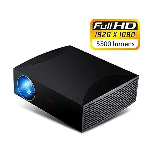 Cine en casa Proyectores,1920x1080P LED De Cine En Casa F30 Full HD Proyector 5500 Lúmenes Entretenimiento 3D Multimedia Super Brillante