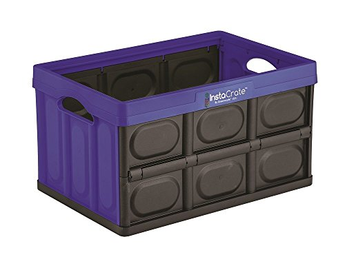 GreenMade InstaCrate Collapsible Storage Container, 12 gal, Blue/Black