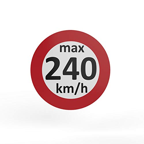 AUPROTEC - Pegatinas de velocidad para neumáticos de invierno (160-240 km/h, 25 unidades, 240 km/h)