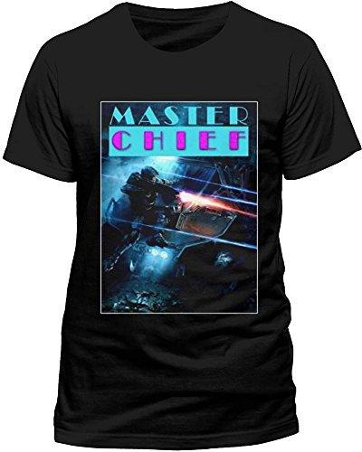 CID Herren Halo Master Chief T-Shirt, Schwarz, M