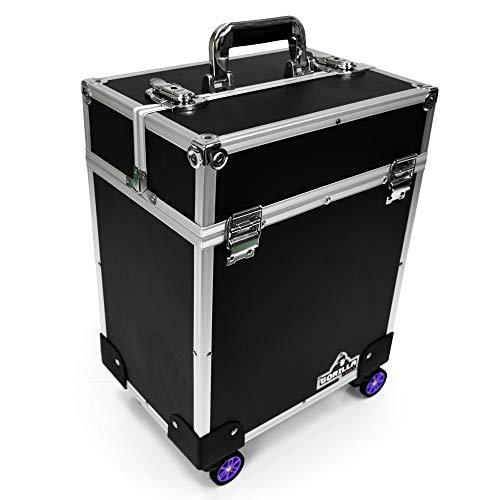 Gorilla GC-340B Trolley Hand-Tool Power-Tool Case Black Tool Box Portable Storage Organizer Heavy Duty Multi Purpose Carry Case