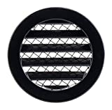 Haeusler-Shop - Rejilla de ventilación (aluminio, 100 mm, redonda), color negro
