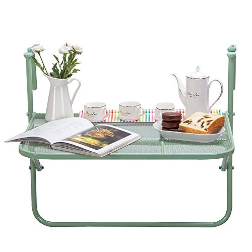 Ljf Balkon Geländer Hängetisch Klapptisch Couchtisch Kleiner Tisch Kleine Bar Vermeiden von verkratztem Metall (Color : C)