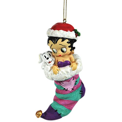 Westland Giftware Resin Ornament, Betty and Pudgy stocking