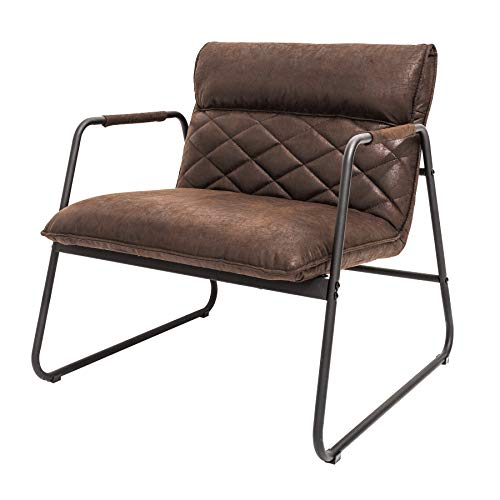 Retro Lounge Sessel Mustang Lounger antik braun Esszimmersessel Stuhl Besucherstuhl