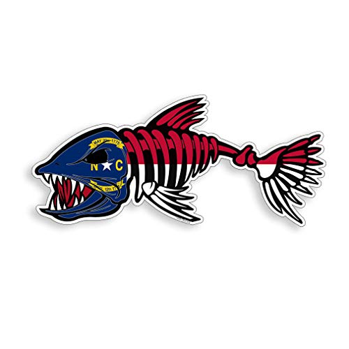 North Carolina Bonefish Sticker Printed Vinyl NC Bone Fish Decal Fishing Car Truck Boat Window Bumper Decal Graphic Decal Stickers for Tumblers Perfect for Phone Water Bottle Vehicles (5 Pcs/Pack)