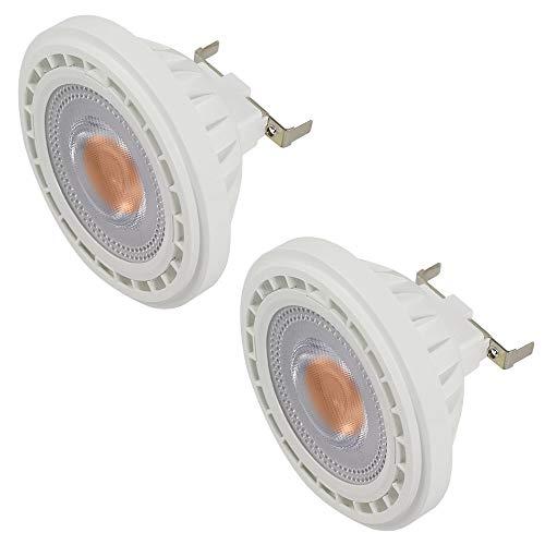 MENGS 2-er Pack G53 AR111 LED Strahler COB 12W LED Leuchtmittel Ersatz für 95W Halogenlampen Warmweiß 3000K AC 85-265V