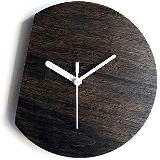 28cm Piccolo orologio da parete silenzioso per soggiorno colorato come wenge Particolari orologi a muro analogici con mecc...