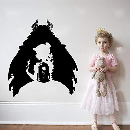 Hetingyue meisjes en monsters, prinses, familie, slaapkamer, vinyl, zelfklevend, voor kinderkamer, meisjes, raamdecoratie