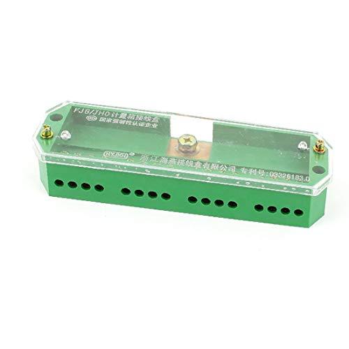 X-DREE FJ6 / JHD-4 / c Bloque de distribución de cable de alimentación de medidor de electricidad de una entrada y 16 tomas (Bloc de distribution de câble d'alimentation de compteur d'électricité FJ6