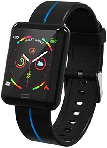 hwbq Reloj inteligente resistente al agua con llamada SMS SNS Recordatorio de pantalla táctil, podómetro, monitor de actividad física