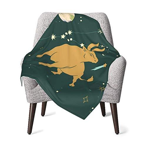 AOOEDM Zodiac Signs-Taurus Baby Blanket for Girls Boys Newborn Super Soft Printed Blankets 30 X 40 Inch(75x100cm)