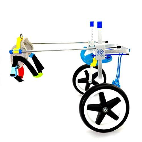 Wózek inwalidzki dla małych zwierząt 3,3-110 funtów Weterynarz zatwierdzony wózek inwalidzki na plecy nogi regulowany wózek inwalidzki rehabilitacja tylnych nóg dla psów niepełnosprawnych, 2 kółka (rozmiar: L)