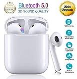 Auricolare Bluetooth 5.0 auricolare wireless,microfono e scatola di ricarica incorporati...