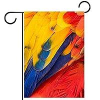 ガーデンフラッグ縦型両面 12x18inch 庭の屋外装飾.着色された羽
