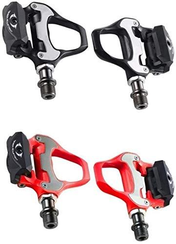 CAISHENY Pedali per Bici da Strada Pedali autobloccanti per Bici con tacchette Pedali per Bici daStradaPedali R550 per Sistema Shiman (Colore: Rosa) -Nero