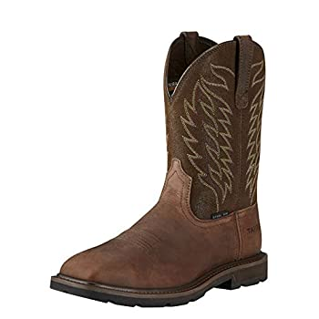 ARIAT Groundbreaker Wide Square Steel Toe Work Boots - Men s Safety Toe Leather Work Boot