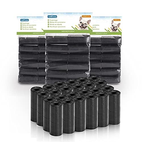 Nobleza 1080 Conde Bolsas de Caca Perro Bolsas para excrementos de Perros Pack de 72 Rollos Negro