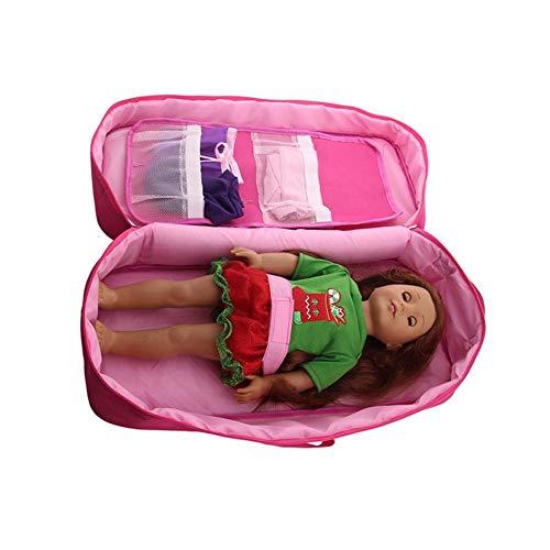 18 Zoll Puppentasche Für Kinder Puppentragetasche Zum Sortieren Und Aufbewahren Von Verschiedenen Puppenzubehören Transparente Fensterbox Rosa Rot Blau Puppentasche