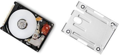 320GB Festplatte für PS3 Super Slim (12GB, CECH-400XX) + Einbaurahmen + Handbuch/Manual (24-sprachig) + Positionsschrauben