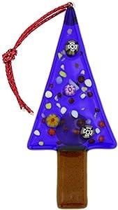 GlassOfVenice Adorno de árbol de Navidad de cristal de Murano, color azul
