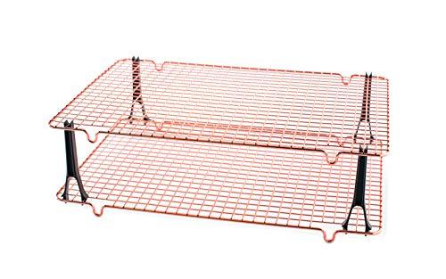 Nordic Ware 43357 - Rejilla de refrigeración de cobre, Grande, Non-Stick, 2 Piece, 1