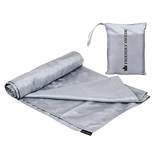 The Friendly Swede Travel and Camping Sheet Sleeping Bag Liner (Silver)