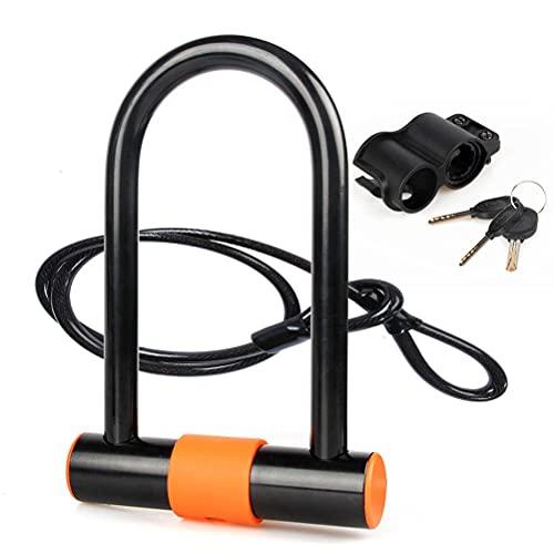 spier Bike U Lock, Heavy Duty Bike Lock with U-Lock Shackle & Bicycle Lock Mount Holder for Bicycle, Motorcycle and More