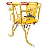 XIONGG Asiento Delantero Y Trasero De Bicicleta para Bebé, con Valla para Cinturón Y Silla para Niños con Pedal De Doble Propósito