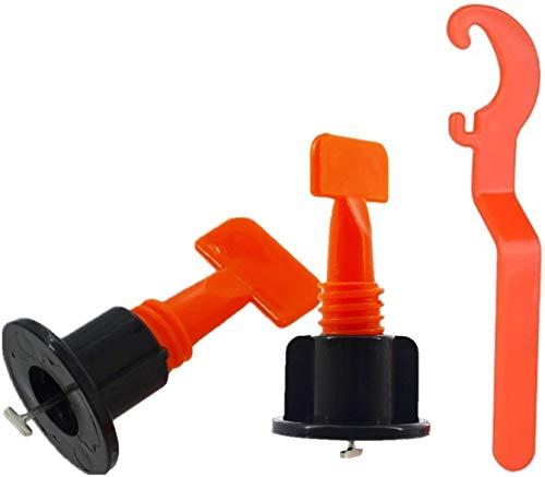 Fliesen Nivelliersystem Kits, 100 Stück wiederverwendbare Fliesen Leveler Fliesen Abstandshalter DIY Werkzeug für den Bau von Wänden, Böden, mit Spezial-Schraubenschlüssel