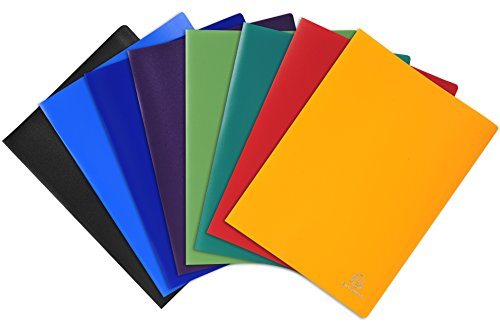 Exacompta 8560EProtège-documents en polypropylène souple opak 120 vues - A4 - Couleurs assorties - Lot de 8