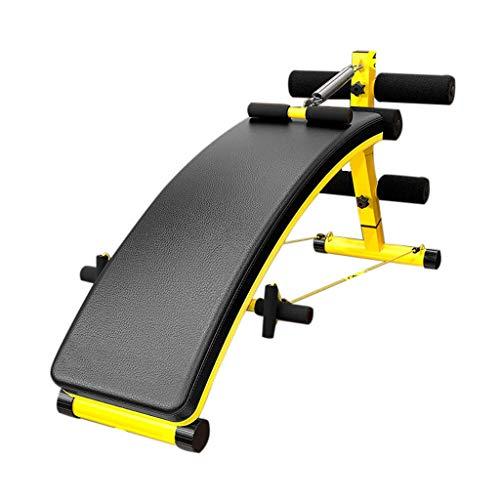 FFAN Sit-Up Board - Home Abdomen Gym Professionelle multifunktionale Fitnessgeräte mit Zugschnur Federverstärker Höhe 4-Gang-Einstellung