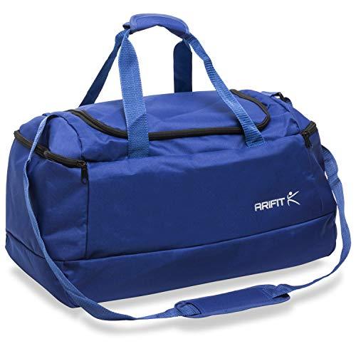generi Arifit - Bolsa de gimnasio para hombre y mujer, para deporte, entrenamiento, viajes, color azul