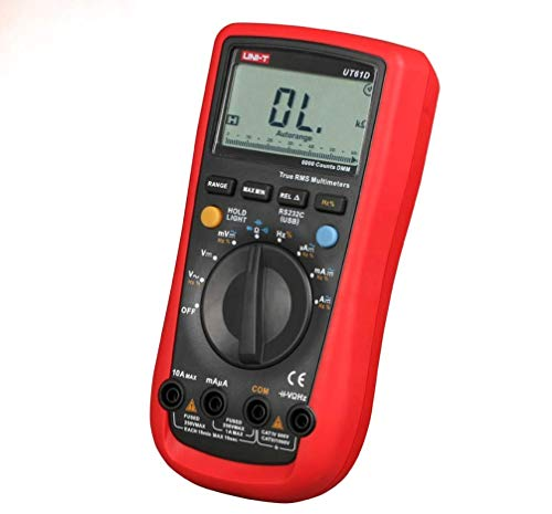 ZTBXQ Home Supplies Digital Multimeters True RMS 0.5s Fast Test AC DC Auto Range 1000V/10A Best Accuracy 0.01mA PC Soft Data Calculate(UT61D)