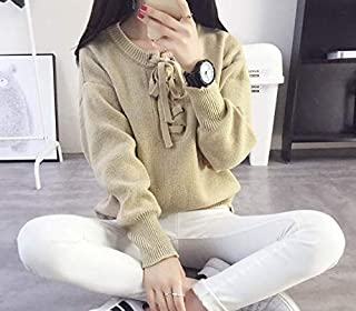 Brown Bandage Long-Sleeved Sweater For Women Size - Free Size