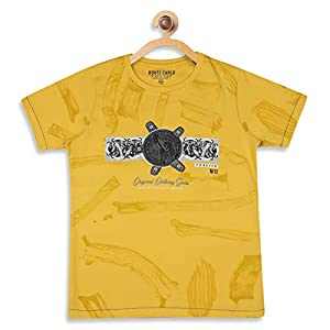 Monte Carlo Yellow Coloured Boys Tshirt 9 4117+z4S+IL. SS300