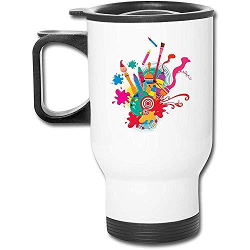 Little Yi Farben und Aquarell Kugelschreiber Edelstahl Travel Mug Kaffeetasse