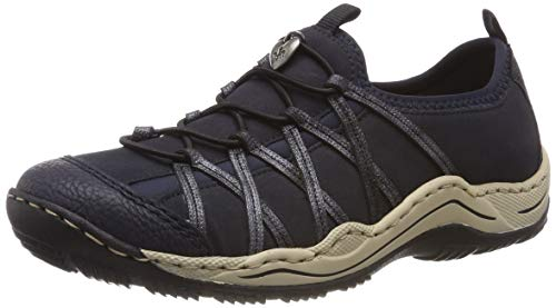 Rieker Damen L0559-15 Sneaker, Blau (Pazifik/Pazifik/Nightblue/Navy 15), 42 EU