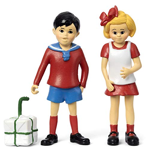 Micki & Friends 44379400 Pippi Langstrumpf Spielfiguren Tommy & Annika - 2-teilig - Puppen - Puppenhaus-Zubehör - ab 3 Jahre