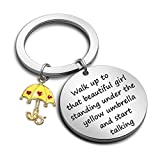 How I Met Your Mother Inspird Gift Yellow Umbrella Keychain HIMYM Gift(Walk Up to KR)