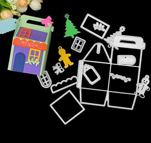 Molde de cuchilla Modelo de troquel de acero al carbono Rompecabezas para niños Cuchillo de estampado en bricolaje Caja de troquelado Troqueles artesanales para hacer tarjetas 12.2X15.8Cm