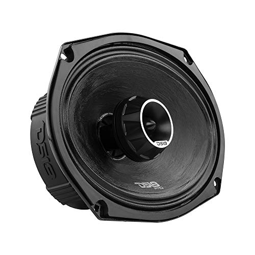 DS18 PRO-ZT69 6x9-Inch 2 Way Pro Audio Midrange Speakers with Built-in Bullet Tweeter, 4-Ohms, 550W Max, 275W RMS - Red Metal Mesh Grill Included (1speaker)