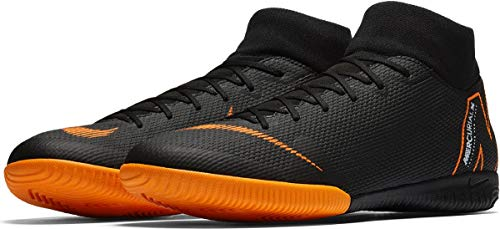 Nike Superflyx 6 Academy IC, Scarpe da Calcio Uomo, Nero (Black/Total Orange-W 081), 45 EU
