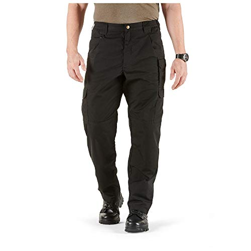 5.11 Tactical Men's Taclite Pro Lightweight Performance Pants, Cargo Pockets, Action Waistband, Black, 38W x 32L, Style 74273