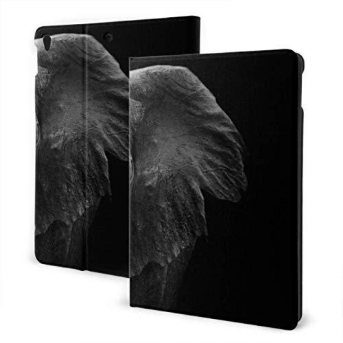 iPad Protective Cover 2019 iPad Air3/2017 iPad Pro 10.5 Inch Case/2019 iPad 7th 10.2 Inch Case Huge Grey Elephant With Two Ivory iPad Case For Kids Auto Wake/sleep