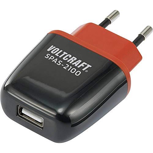 VOLTCRAFT - Cargador USB SPAS-2100 VC-11413285 para toma de pared, corriente de salida máxima 2100 mA, 1 x USB Autodetección
