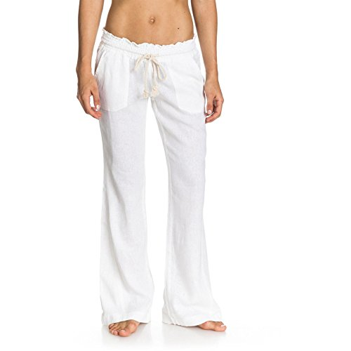 Roxy Oceanside Non-Denim Pants, Mujer, Blanco, M
