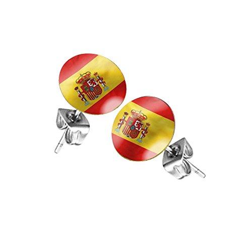 Taffstyle Fanartikel Ohrringe für Fußball WM & EM - Spanien