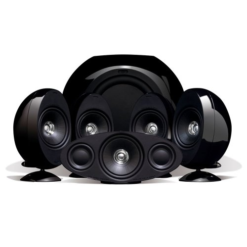 KEF KHT3005BL (SE) 5.1 Home Theater Speaker System (Gloss Black) (Discontinued by Manufacturer)