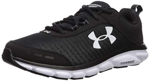 Under Armour Men's Charged Assert 8, Black (001)/White, 11